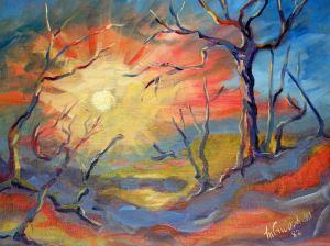 Fiery Australia Sunset